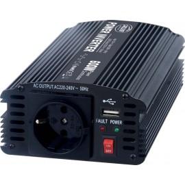 měnič DC-AC 12/220V 600W, USB